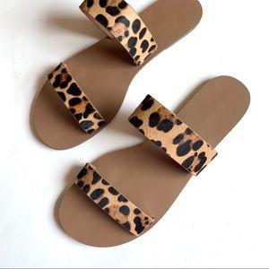J. Crew Leopard Print Sandal
